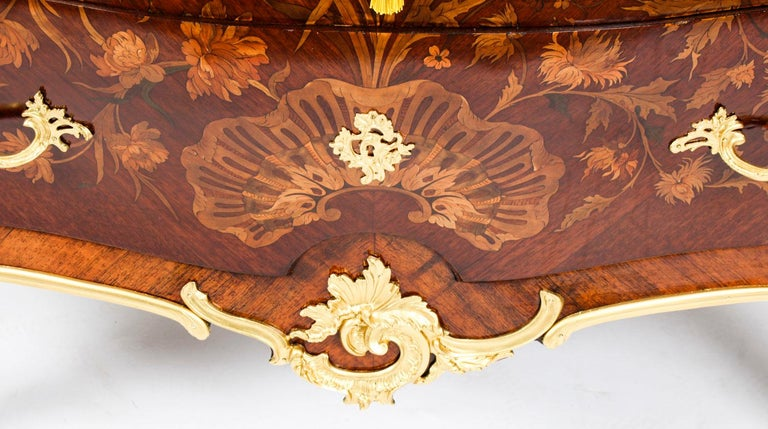 Antique French Louis XV Revival Marquetry Commode Chest 19th C In Good Condition In London, GB