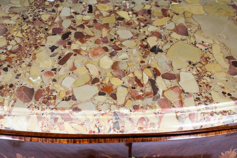 Antique French Louis XV Revival Marquetry Commode Chest 19th C 2