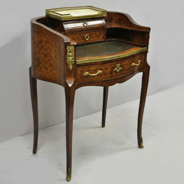 Inlaid Pee Demilune Writing Desk