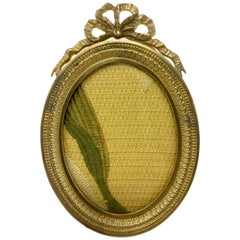 Antique French Louis XV Style Bronze Doré Oval Picture Frame, circa 1890