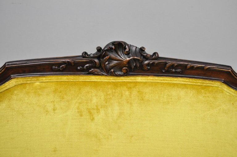 20th Century Antique French Louis XV Style Finely Carved Mahogany Settee Loveseat For Sale