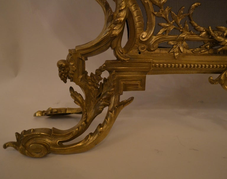 Antique French Louis XV Style Firescreen For Sale 1