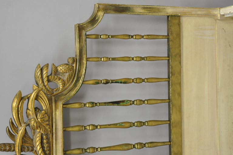 Antique French Louis Xv Style Italian Distress Painted Full Size Bed Frame At 1stdibs
