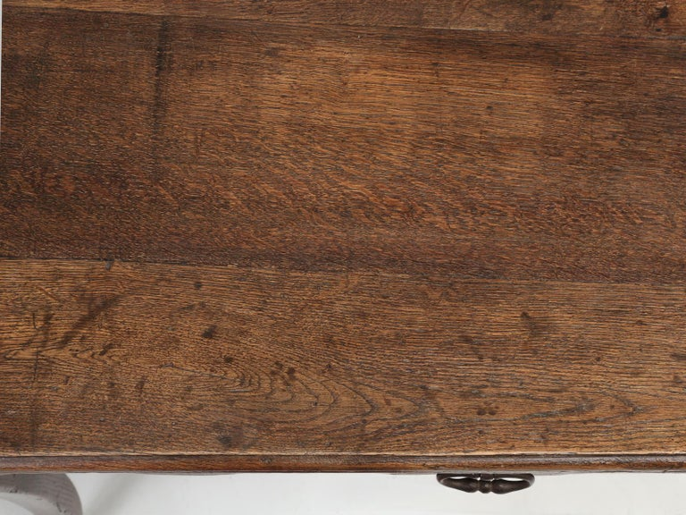 Oak Antique French Louis XV Style Ladies Writing Desk or Side or End Table For Sale
