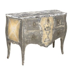 Antique French Louis XV Style Painted Commode Sauteuse