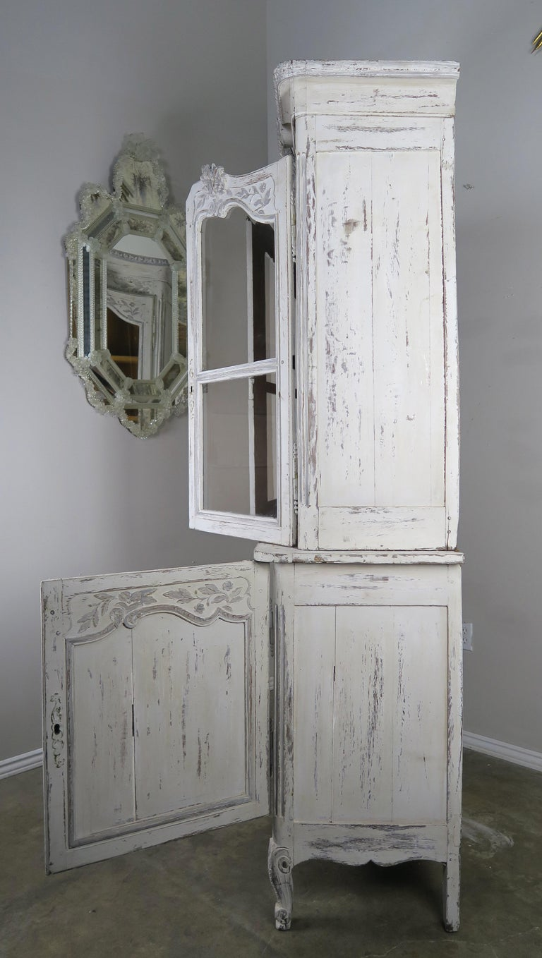 Antique French Louis XV Style Painted Wedding Armoire For ...