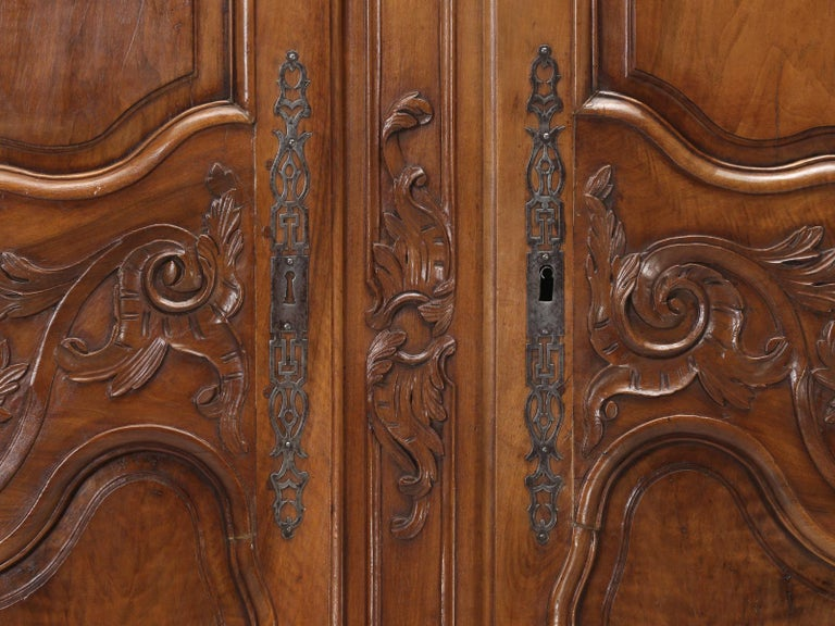 Antique French Louis XV Walnut Armoire, circa 1700s For ...