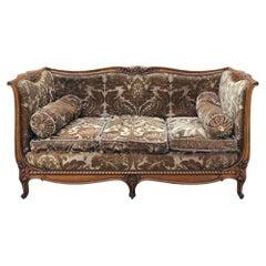 Antique French Louis XV Walnut Canape, Sofa