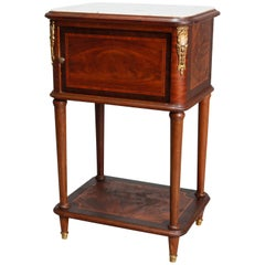 Antique French Louis XVI Banded Mahogany Side Stand, 20th Century