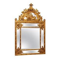 Antique French Louis XVI Gold Leaf Mirror