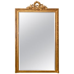 Antique French Louis XVI Gold Mirror, Late 19th Century