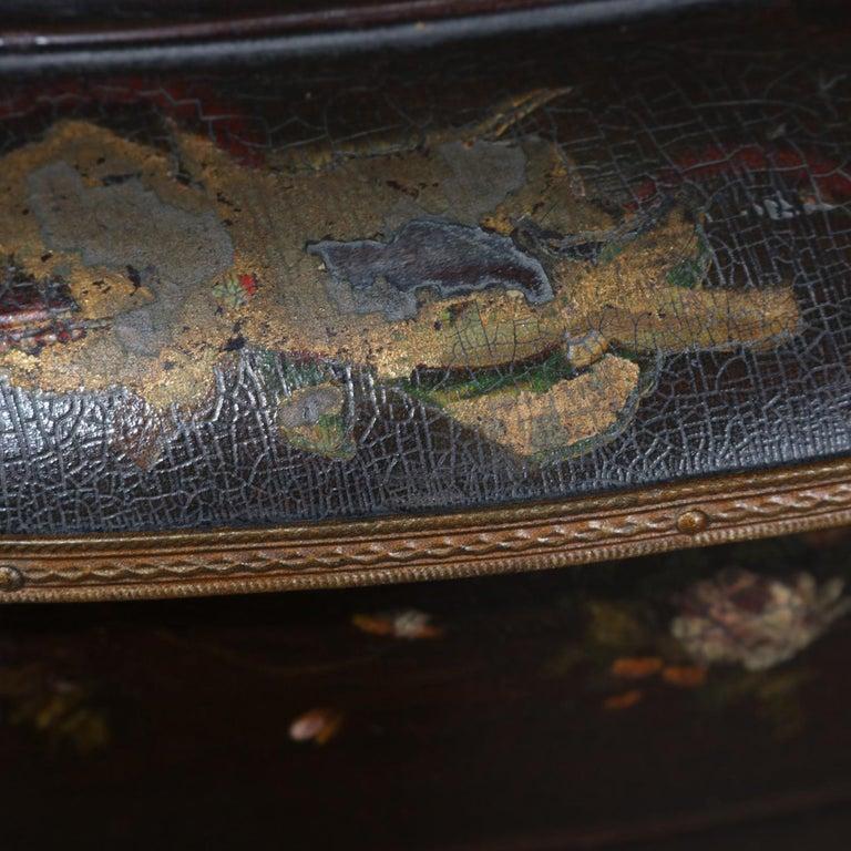 Antique French Louis XVI Mahogany and Ormolu Demilune Mirror Back Vitrine For Sale 6