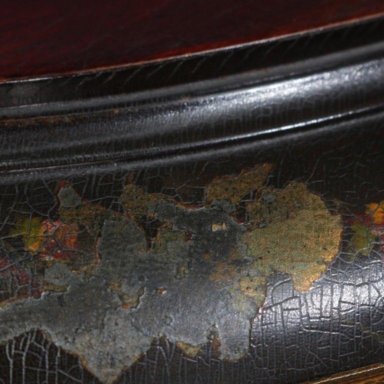 Antique French Louis XVI Mahogany and Ormolu Demilune Mirror Back Vitrine For Sale 3