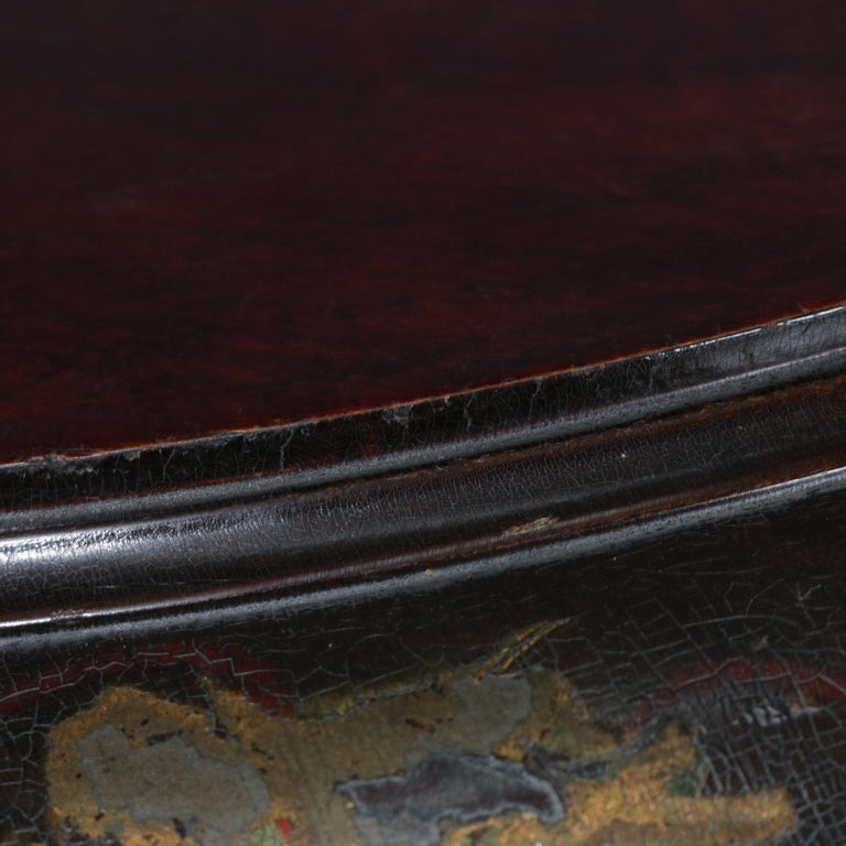 Antique French Louis XVI Mahogany and Ormolu Demilune Mirror Back Vitrine For Sale 4