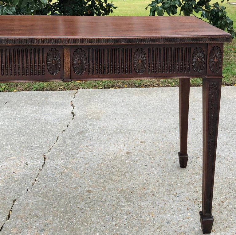 Antique French Louis XVI Mahogany Console or Writing Table For Sale 5