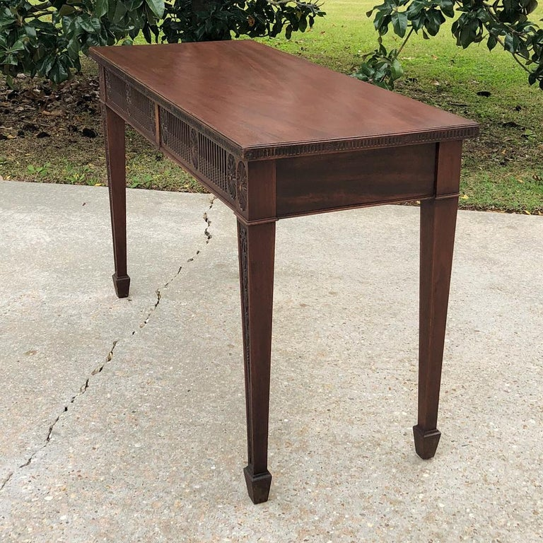 Antique French Louis XVI Mahogany Console or Writing Table For Sale 6