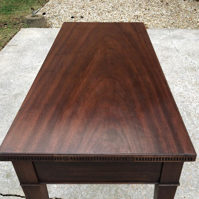Antique French Louis XVI Mahogany Console or Writing Table For Sale 7