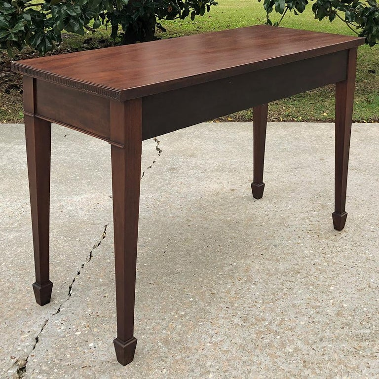 Antique French Louis XVI Mahogany Console or Writing Table For Sale 8