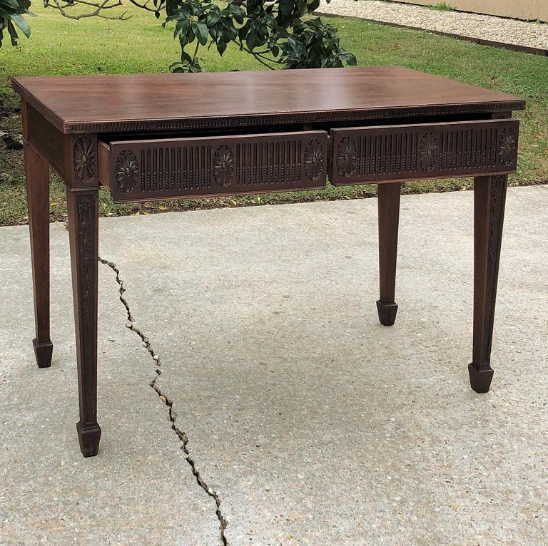 Antique French Louis XVI Mahogany Console or Writing Table For Sale 1