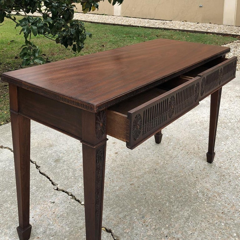 Antique French Louis XVI Mahogany Console or Writing Table For Sale 2