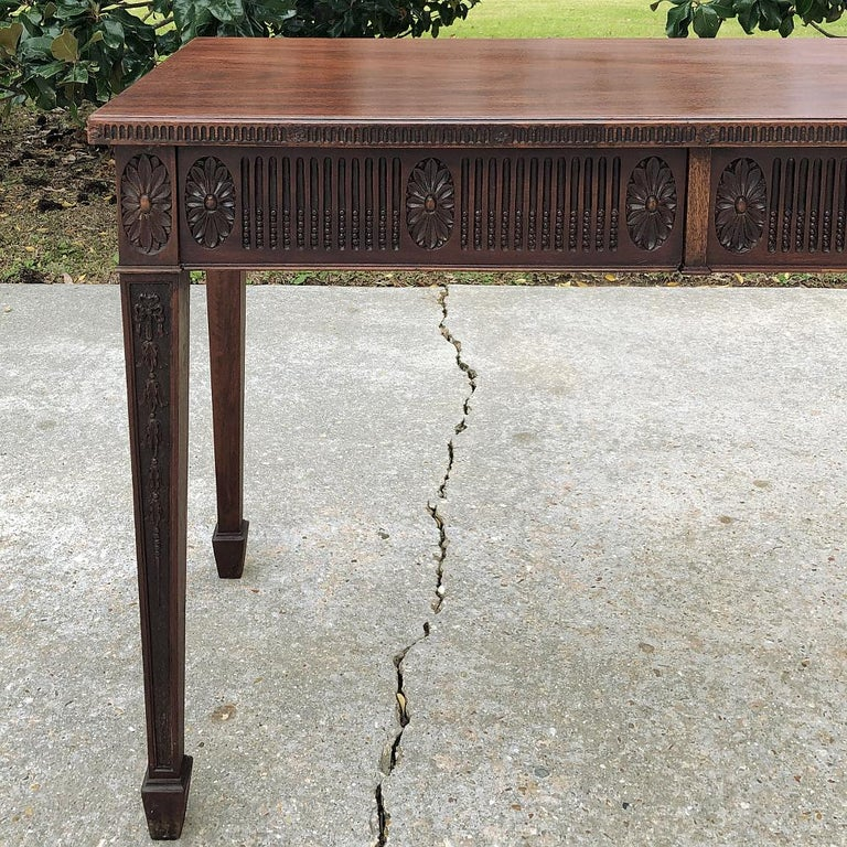 Antique French Louis XVI Mahogany Console or Writing Table For Sale 4
