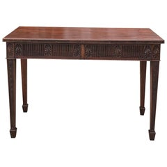 Antique French Louis XVI Mahogany Console or Writing Table