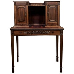 Antique French Louis XVI Mahogany Wall Desk