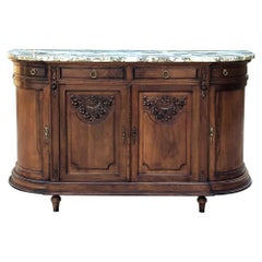 Antique French Louis XVI Marble-Top Buffet