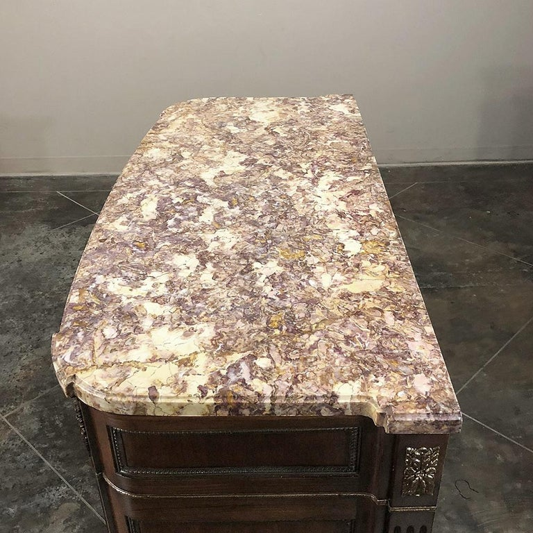 Antique French Louis XVI Marble-Top Commode For Sale 4