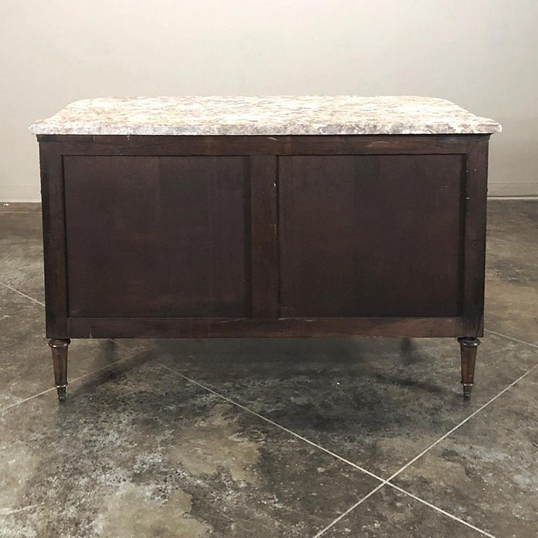 Antique French Louis XVI Marble-Top Commode For Sale 5