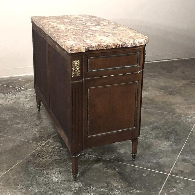Antique French Louis XVI Marble-Top Commode For Sale 2