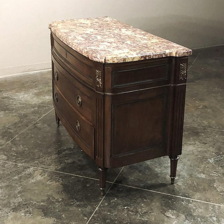 Antique French Louis XVI Marble-Top Commode For Sale 3