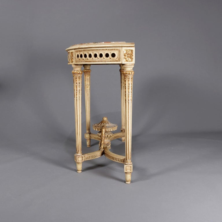 Antique French Louis XVI Neoclassical Painted, Gilt And