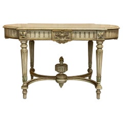 Antique French Louis XVI Painted Center Table