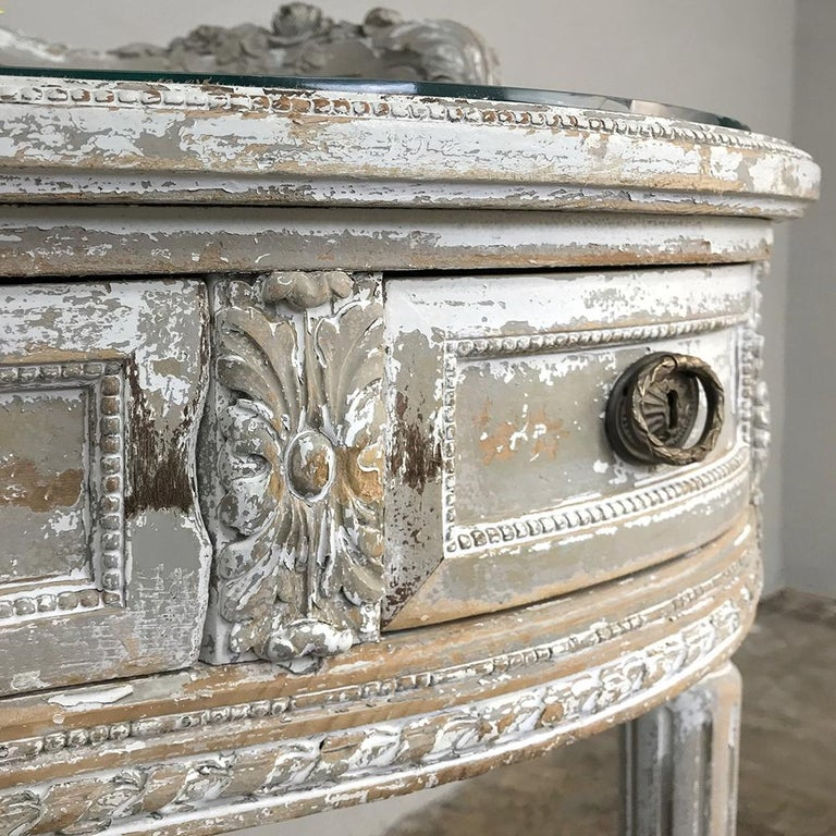 Antique French Louis XVI Painted Vanity For Sale 7