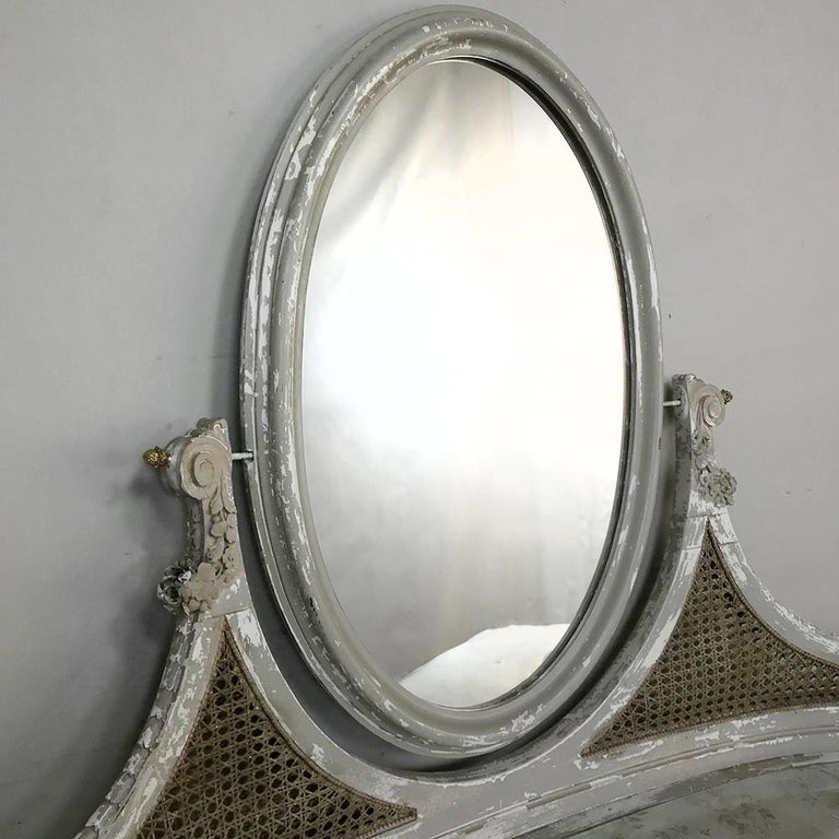 Antique French Louis XVI Painted Vanity For Sale 1