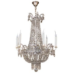 Antique French Louis XVI Sack of Pearls Chandelier