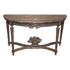 Antique French Louis XVI Silver Gilt Console