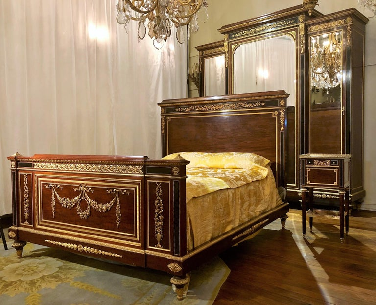 Antique French Louis Xvi Style Bedroom Suite By Master Ebeniste Francois Linke