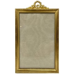 Antique French Louis XVI Style Bronze D'ore Handmade Picture Frame, circa 1890