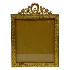 Antique French Louis XVI Style Bronze D'Oré Picture Frame