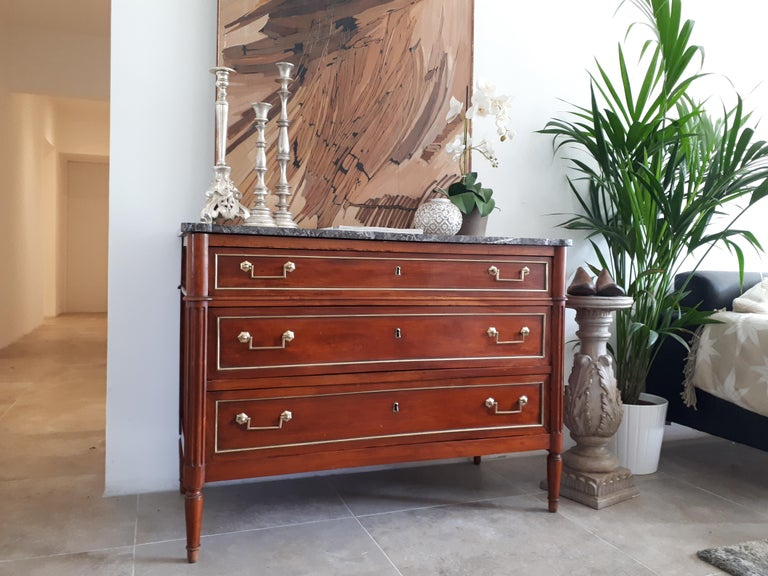 Antique French Louis XVI Style Chest of Drawers Commode For Sale 6