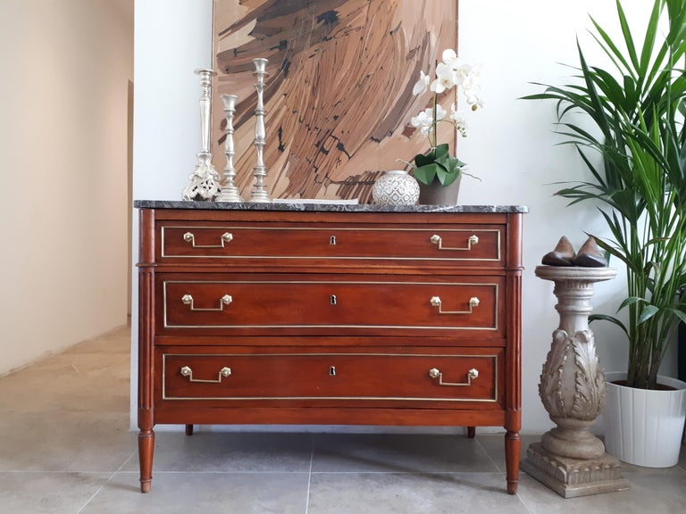 Antique French Louis XVI Style Chest of Drawers Commode For Sale 7