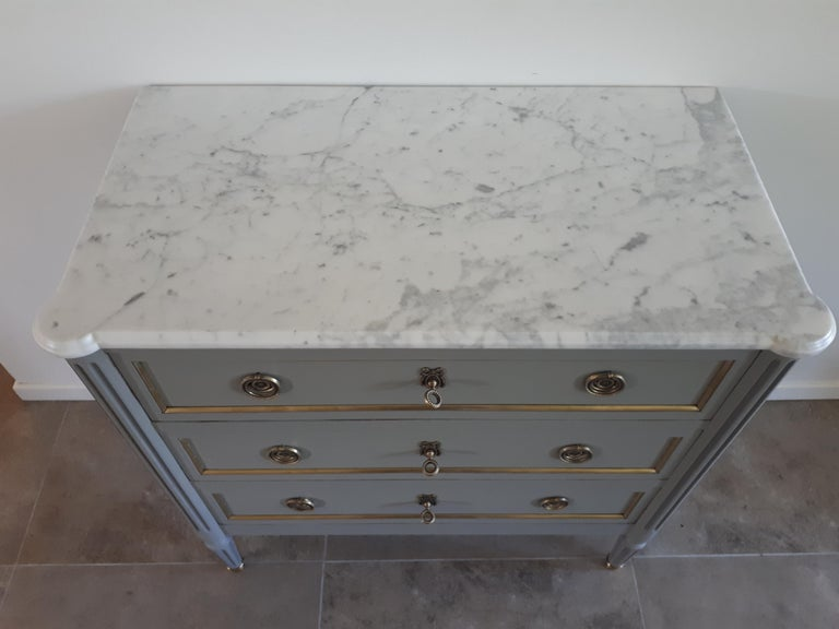 Antique French, Louis XVI Style Chest of Drawers Commode For Sale 1