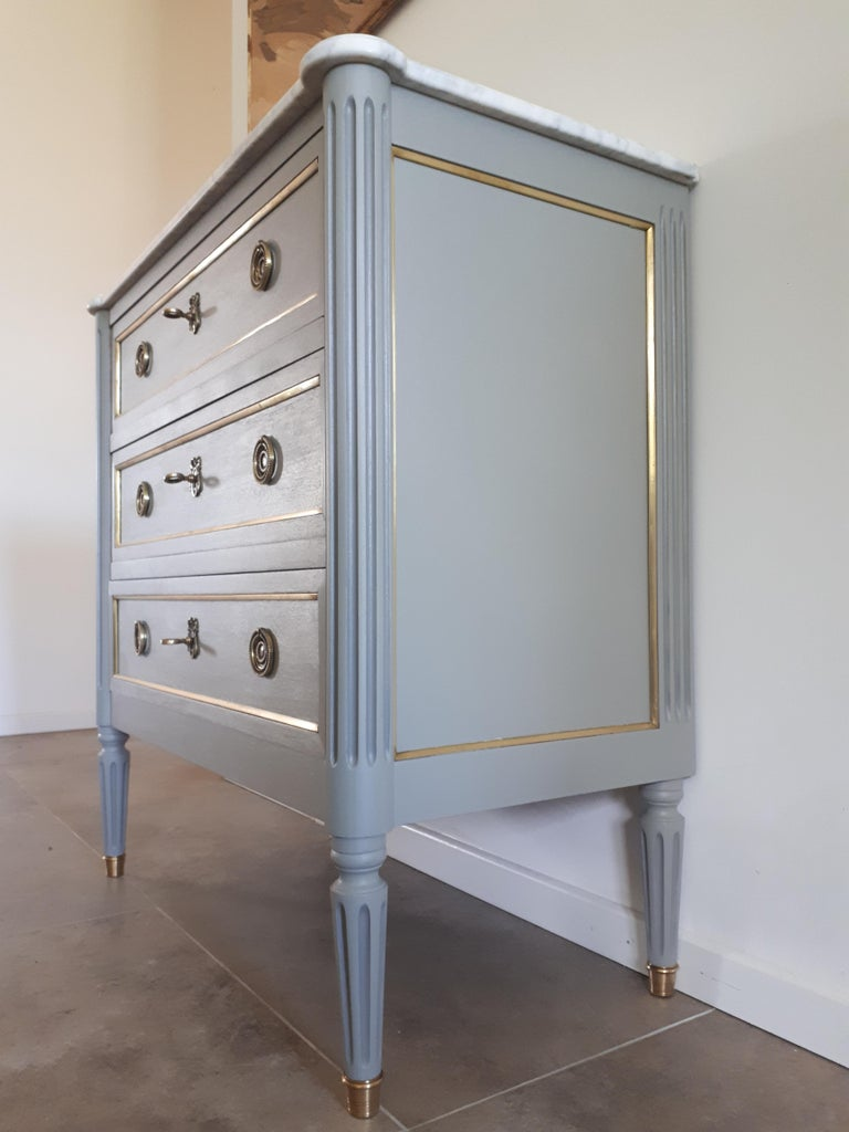 Antique French, Louis XVI Style Chest of Drawers Commode For Sale 3