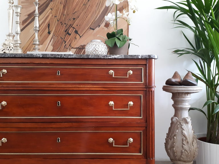 Antique French Louis XVI Style Chest of Drawers Commode For Sale 4