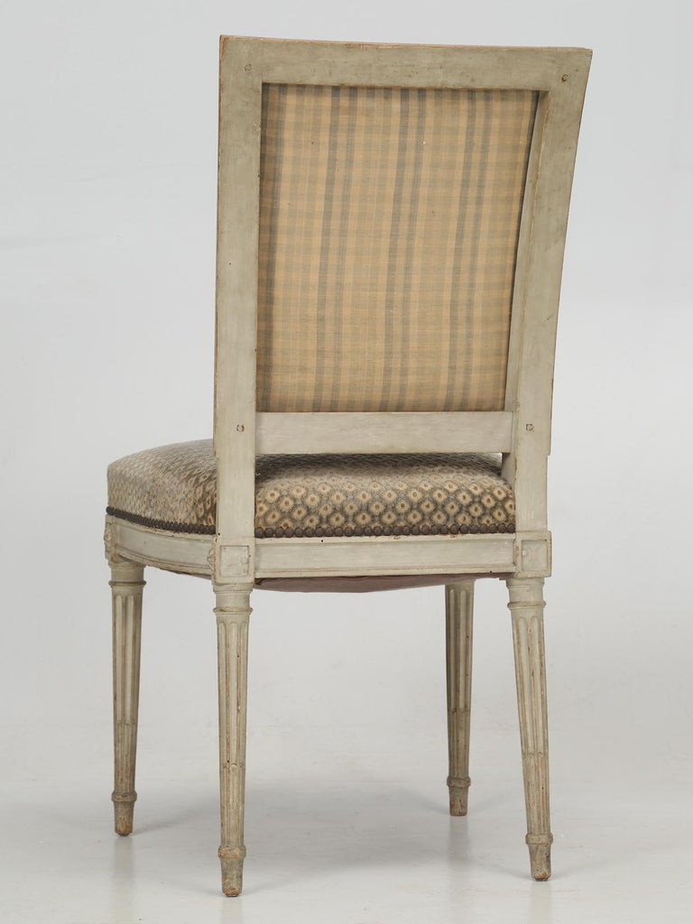 Antique French Louis XVI Style Dining Chairs, Set of 12 in