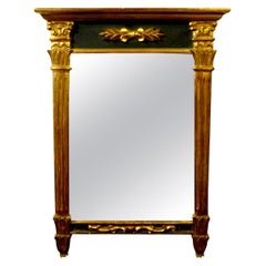Antique French Louis XVI Style Giltwood Mirror