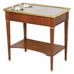Antique French Louis XVI Style Mahogany Rafraichissoir Side Table