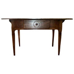 Antique French Louis XVI Style Walnut Cobbler's Work Table